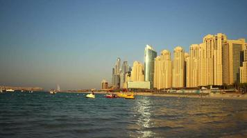 dubai marina coucher de soleil plage time lapse video