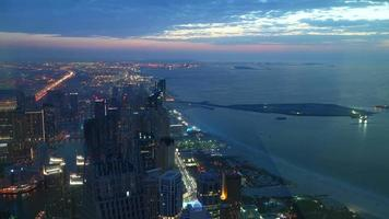 night light high view time lapse from dubai video