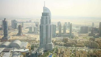 highest view on dubai famous hotel time lapse video