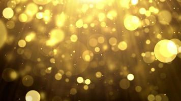 partículas ouro glitter bokeh prêmio poeira resumo fundo loop