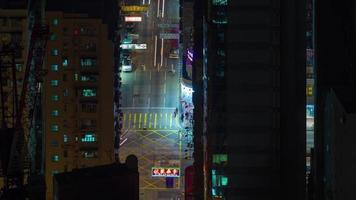 night light city street 4k time lapse de hong kong china