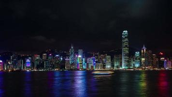 luz noturna hong kong panorama 4k time lapse da china