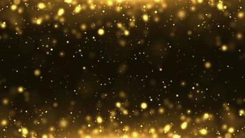 partículas oro brillo bokeh premio polvo resumen antecedentes lazo video