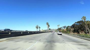 Time lapse of car driving Freeway 101 Ventura in California