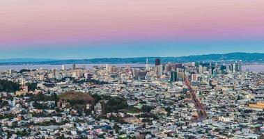Time-lapse of San Francisco City from Twin Peak