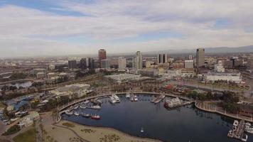 Aerial Long Beach Downtown