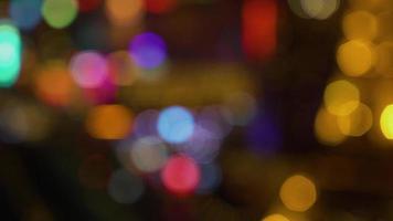 Bokeh Background City Christmas Lights video