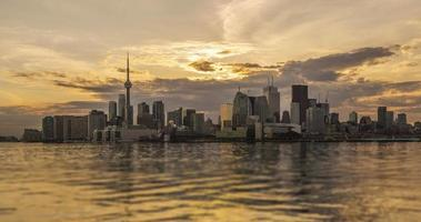 The Skyline of Toronto the before Sunset