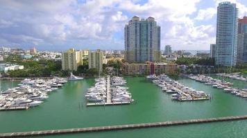 Miami Beach Marina Luftbild Filmmaterial