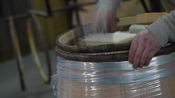 Herstellung von Weinfässern-Bordeaux-Weinberg