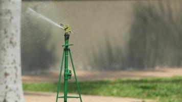 arrosage de l'eau pulvérisée sur la pelouse