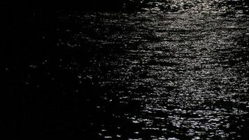 Reflection of moonlight on the sea.