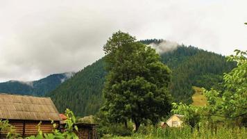 Zeitrafferlandschaft des Dorfes