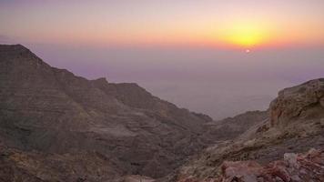 lasso di tempo di montagna tramonto da al ain emirati arabi uniti