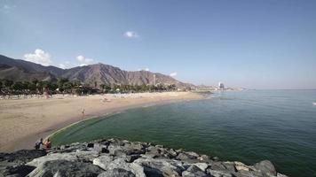 hotel beach near dubai time lapse video