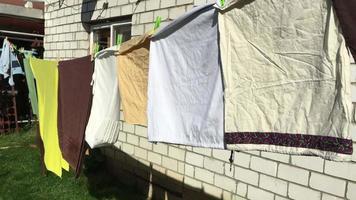 ropa seca en el viento