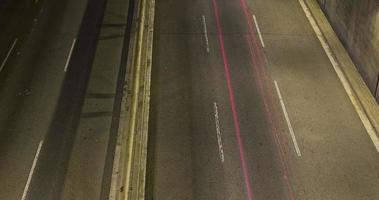 Night scene of urban traffic.Time Lapse - Trail effect - Long exposure - 4K. (05)