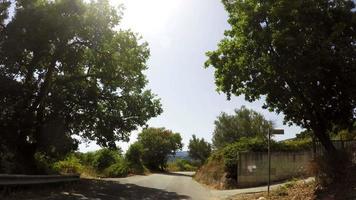 estrada da montanha, tempo real, carro-câmera, 4k video