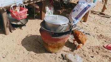cocinar arroz en estufa de leña