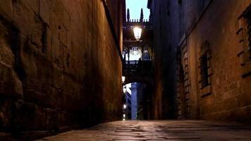 Calle en el Barrio Gótico de Barcelona por la noche, Dolly