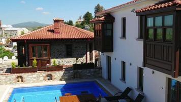 Maisons blanches historiques, village de Sirince, Izmir, Turquie