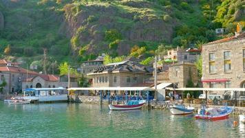 Maisons traditionnelles en pierre vieux villages turcs autour d'Assos, Canakkale, Turquie