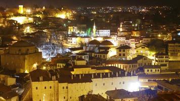 timelapse noturno, vila tradicional da anatólia otomana, safranbolu, Turquia video