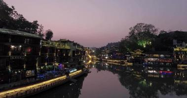 Fenghuang oude stad 's nachts
