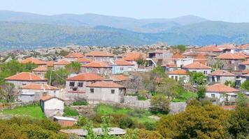casas de pedra tradicionais antigas aldeias turcas em torno de assos, canakkale, turquia