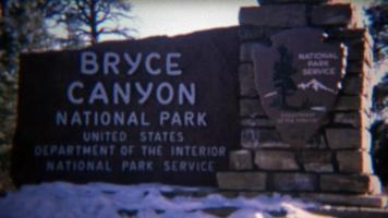 1972: Bryce canyon national park scenic views of unique rock formations.