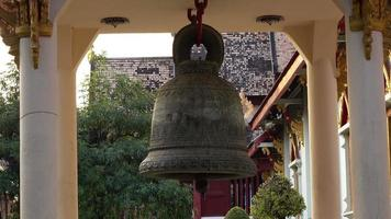 Bell Moving At Buddhist Temple