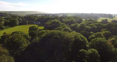 veduta aerea della campagna inglese