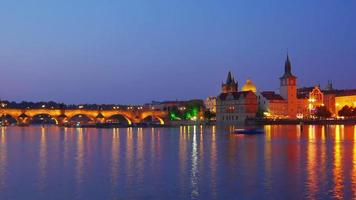Charles Bridge and castle view Prague