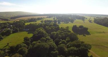 vista aérea de la campiña inglesa