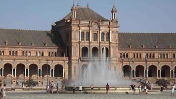 palácio espanhol e fonte de água video