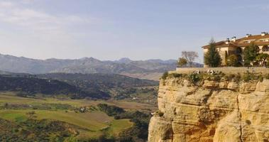 Malaga toeristische plaats ronda stad zon licht uitzicht 4k spanje