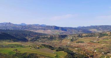 luz do sol dia hora vista dos campos da montanha dos 4k principais da espanha