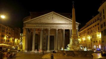 Pantheon di notte, Roma, Italia video