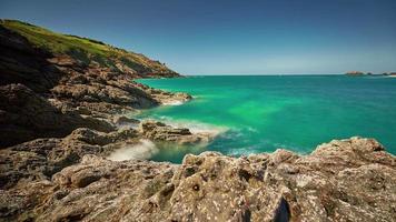 França verão lindo panorama natureza baía 4k time lapse video