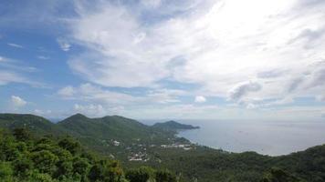 Laps de temps de nuage en mouvement - sur l'île de koh tao video