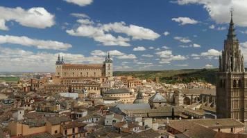 Toledo cityscape. Panning shot. UHD, 4K video