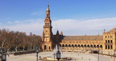 siviglia famosa turistica plaza de espana luce del sole 4k spagna video