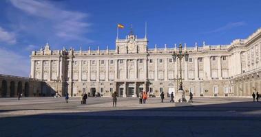 spanien sonnenlicht tag zeit madrid königlicher palast hauptplatz 4k