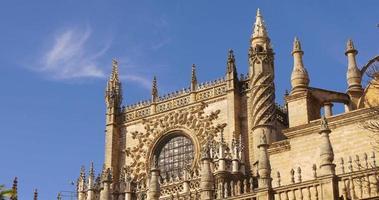 giornata di sole blu cielo siviglia principale cattedrale 4k spagna video