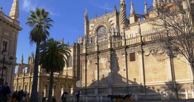 siviglia cattedrale principale sole luce ombra 4k spagna video