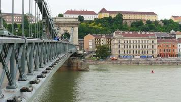 vista del ponte delle catene, budapest video