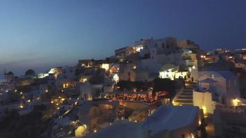 Sonnenuntergang in Oia Santorini