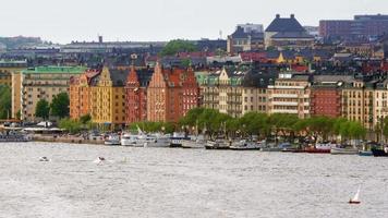 Vue sur la vieille ville de Stockholm, Suède