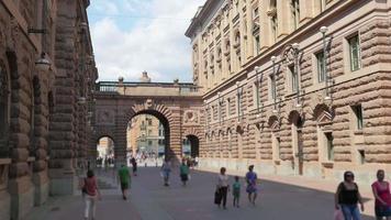 cidade velha de estocolmo, vista do parlamento, suécia