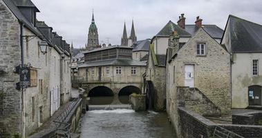 bayeux, frança - timelapse - centro da cidade